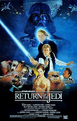 Star Wars - Return Of The Jedi (1983) Style B by Kazuhiko Sano