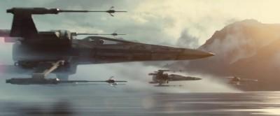 De nieuwe X-wing starfighters in actie ...